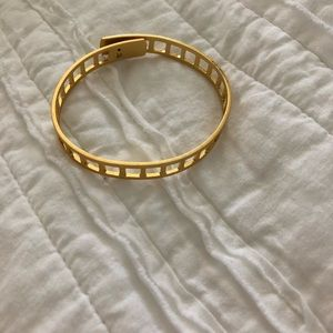 Madewell gold cuff bracelet